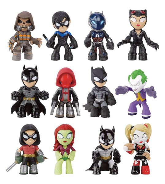 DC Comics Arkham Batman Mystery Minifiguren 6 cm Serie 1 Display (12)