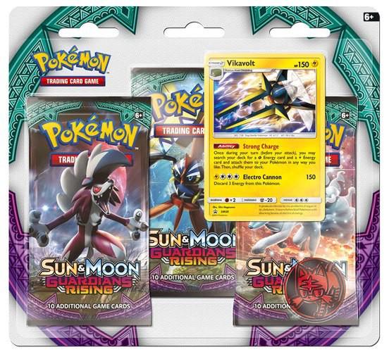 Pokemon Sonne und Mond 2 Stunde der Wächter 3er-Packs Blister Display (24) *Englische Version*