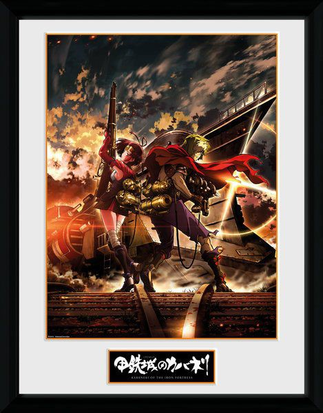Kabaneri of the Iron Fortress Poster im Rahmen Ikoma & Mum 45 x 34 cm