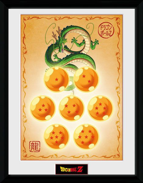 Dragonball Z Poster im Rahmen Dragon Balls 45 x 34 cm