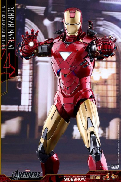 Marvel's The Avengers Movie Masterpiece Diecast Actionfigur 1/6 Iron Man Mark VI 32 cm