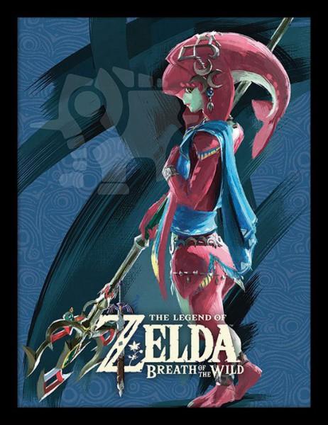 Legend of Zelda Breath of the Wild Poster im Rahmen Divine Beast Vah Ruta 45 x 33 cm