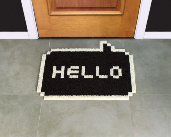 """Pixel Fußmatte """"Hello"""""""