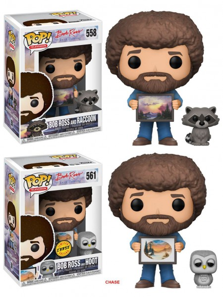 The Joy of Painting POP! Television Vinyl Figuren 9 cm Bob Ross with Raccoon Sortiment (6)