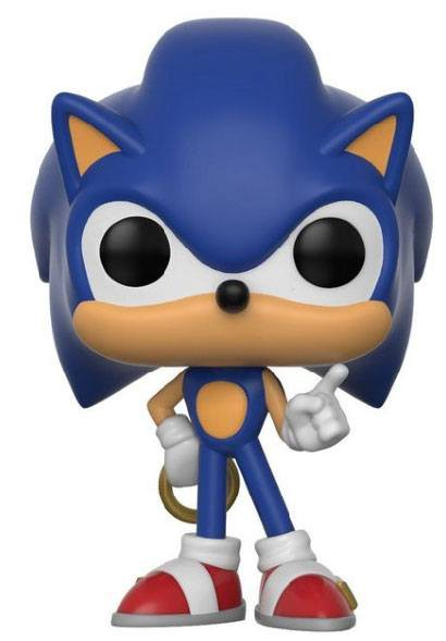 Sonic The Hedgehog POP! Games Vinyl Figur Sonic (Ring) 9 cm