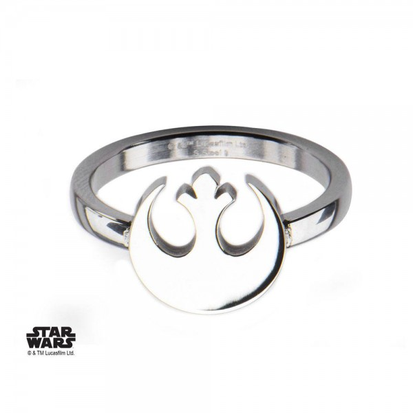 Star Wars Edelstahl-Ring Rebel Alliance Symbol