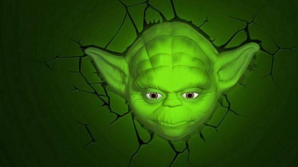 Star Wars 3D LED Leuchte Yoda