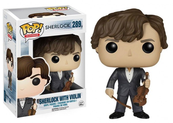 Sherlock POP! TV Vinyl Figur Sherlock with Violin 9 cm