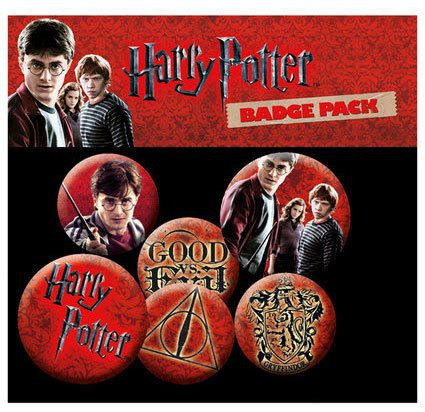 Harry Potter Ansteck-Buttons 6er-Pack Icons