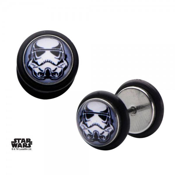 Star Wars Edelstahl-Ohrringe Stormtrooper Helmet Graphic Front