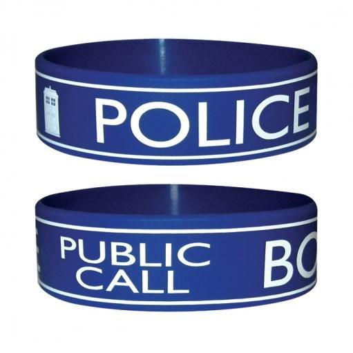 Doctor Who Tardis Police Box Gummi Armband