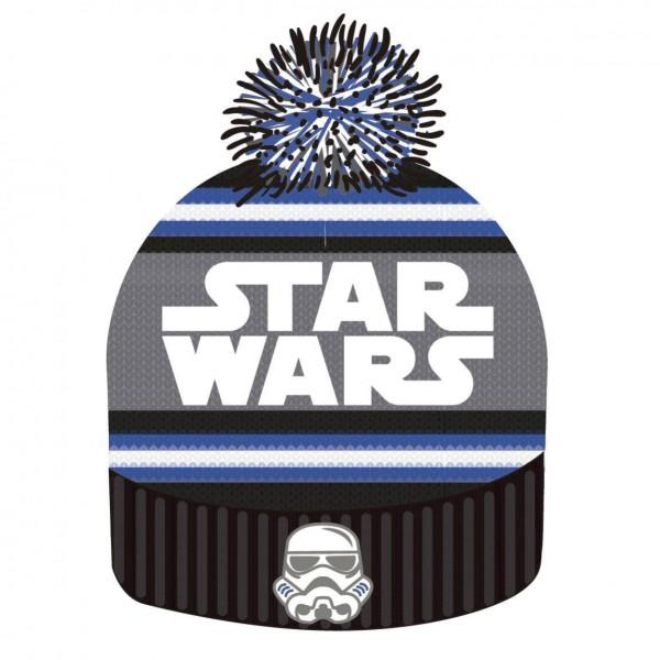Star Wars Beanie Knitted Logo & Stormtrooper