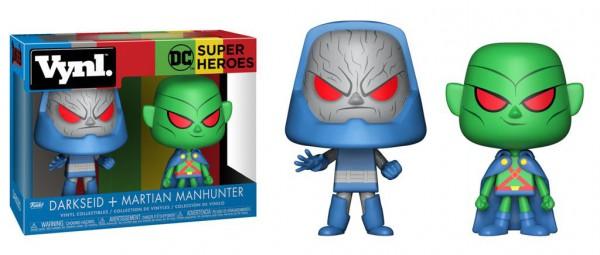 DC Comics VYNL Vinyl Figuren Doppelpack Martian Manhunter vs Darkseid 10 cm