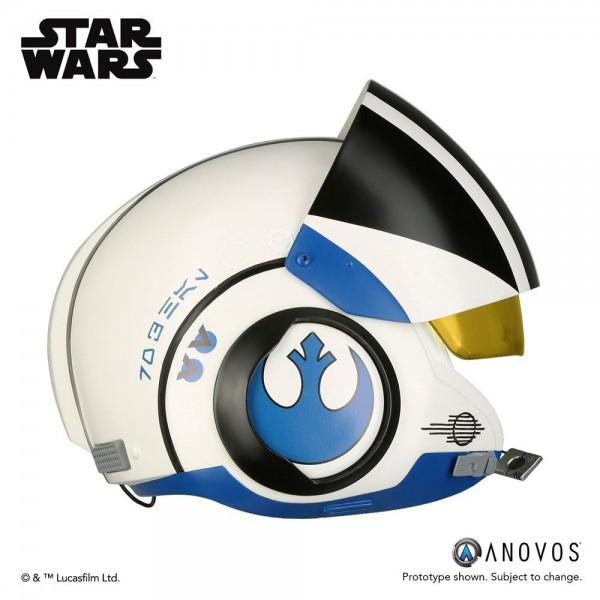 Star Wars Episode VII Replik 1/1 Poe Dameron Blue Squadron Helm Accessory Ver.