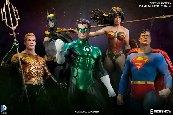 DC Comics Premium Format Figur Green Lantern - Hal Jordan 62 cm --- BESCHÄDIGTE VERPACKUNG
