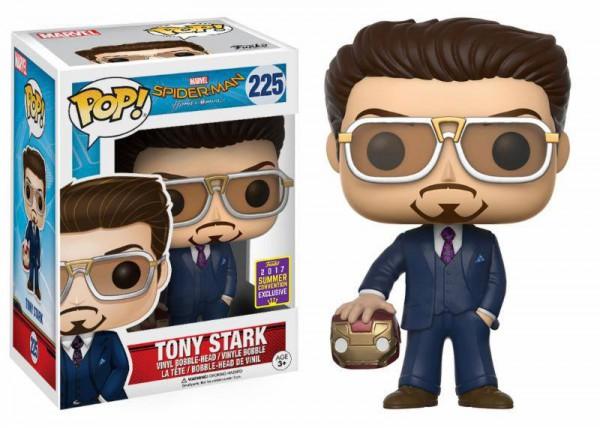 Spider-Man Homecoming POP! Marvel Vinyl Figur Tony Stark Suit & Helmet 9 cm