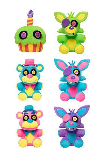Five Nights at Freddy's Blacklight Plüschfiguren 18 cm Display (6)