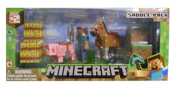 Minecraft Actionfiguren 3-er Pack Saddle Pack 8 cm