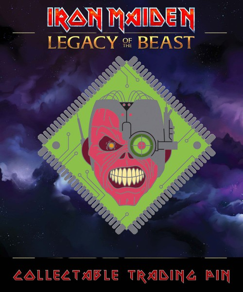 Iron Maiden Legacy of the Beast Ansteck-Button Cyborg Eddie