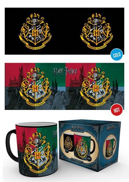 Harry Potter Tasse mit Thermoeffekt Hogwarts Crest