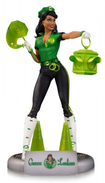 DC Comics Bombshells Statue Green Lantern Jessica Cruz SDCC 2017 23 cm