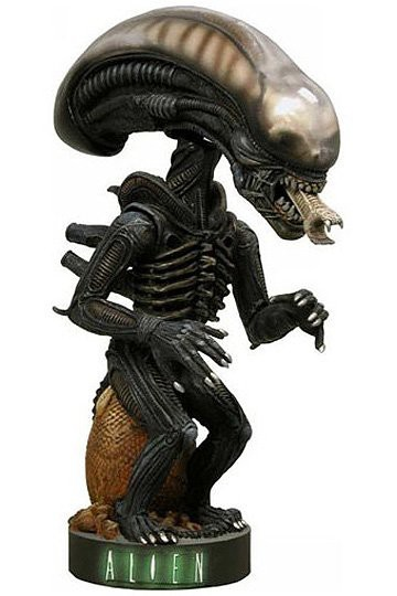 Alien Head Knocker Wackelkopf-Figur, Alien Warrior 18 cm