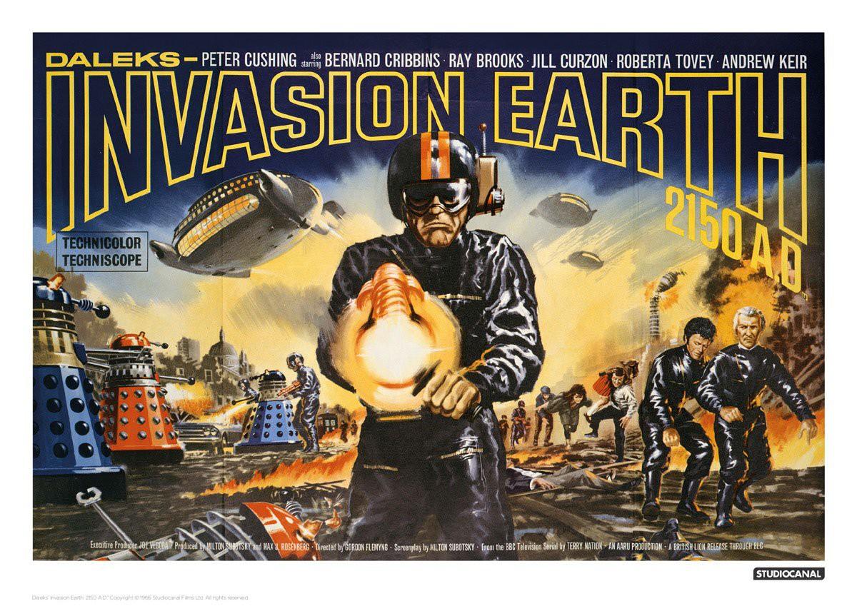 Doctor Who Kunstdruck Invasion Earth Landscape 42 x 30 cm