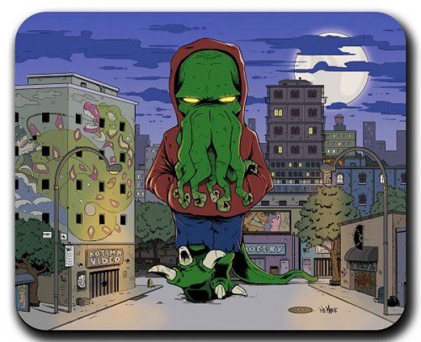 Cthulhu Mousepad Street Boss Cthulhu 30 x 35 cm