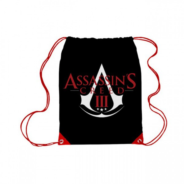 Assassin's Creed III Logo Sportbeutel, schwarz