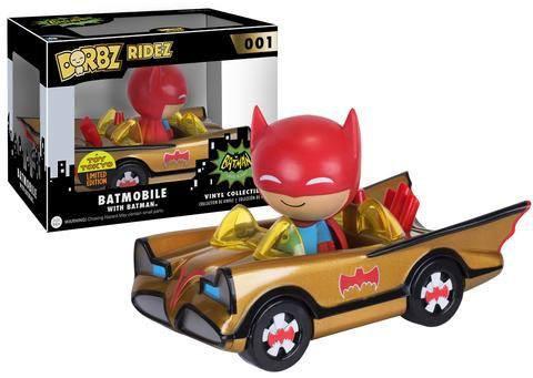 Batman POP! Ridez Vinyl Fahrzeug mit Dorbz Figur 1966 Batman Gold Batmobile SDCC 2016 Exclusive 12 c