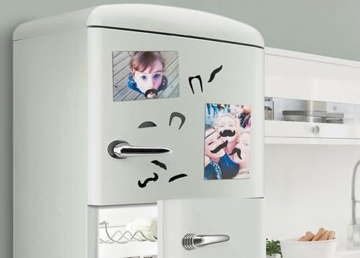 Moustache Schnurrbart Kühlschrank-Magneten, 14er Set