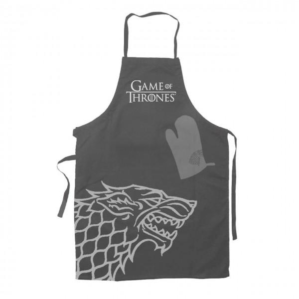 Game of Thrones Kochschürze mit Handschuh Stark