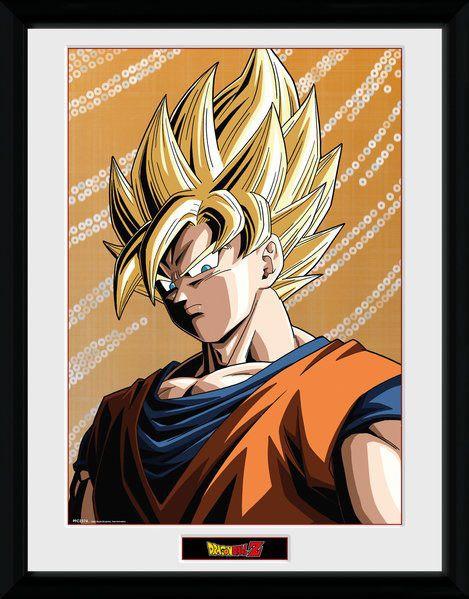 Dragonball Z Poster im Rahmen Goku 45 x 34 cm