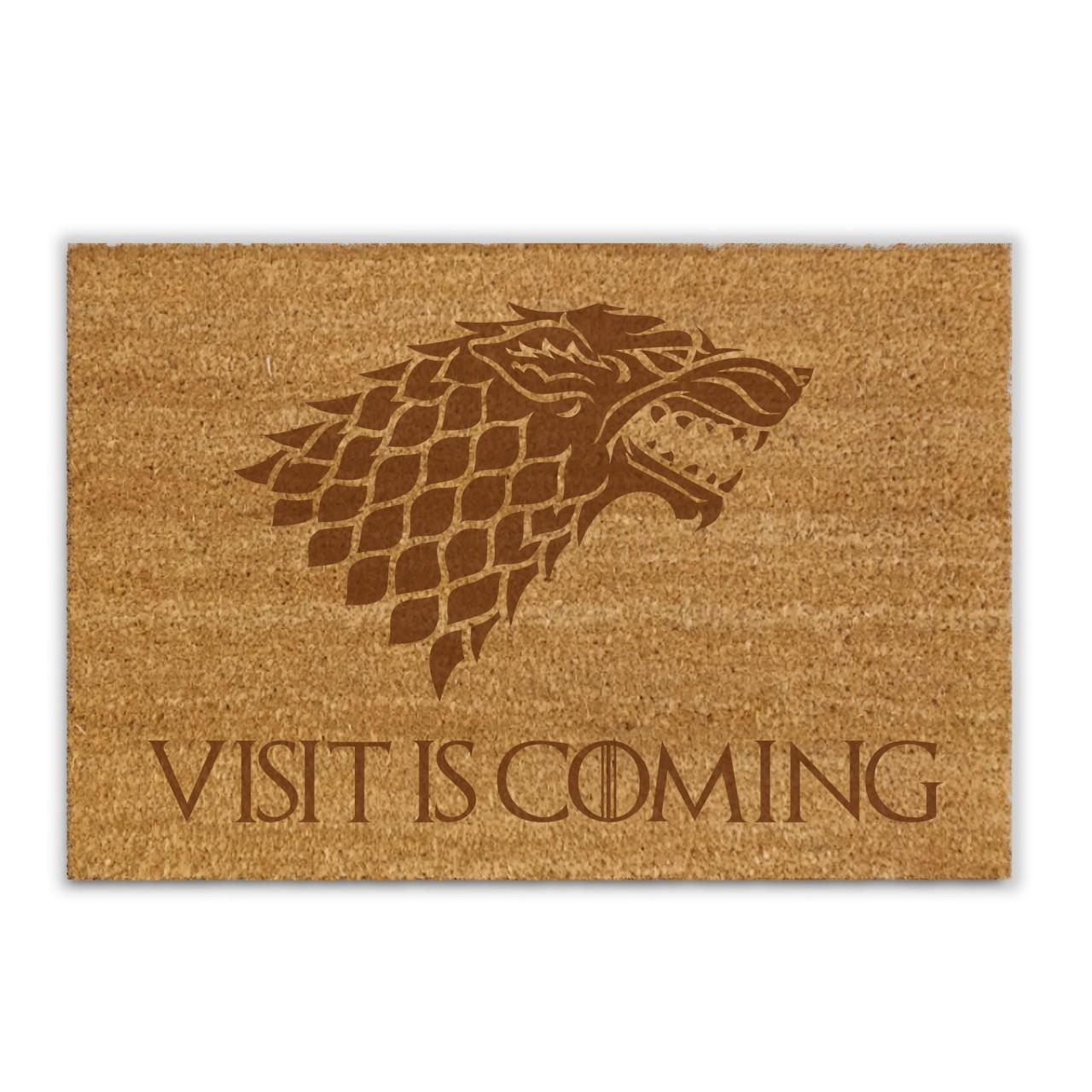 Visit is coming - Kokosfasermatte / Fußmatte