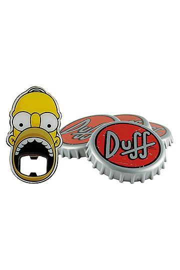 Simpsons Untersetzer Set mit Flaschenöffner