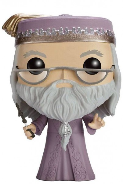 Harry Potter POP! Movies Vinyl Figur Dumbledore mit Zauberstab 9 cm