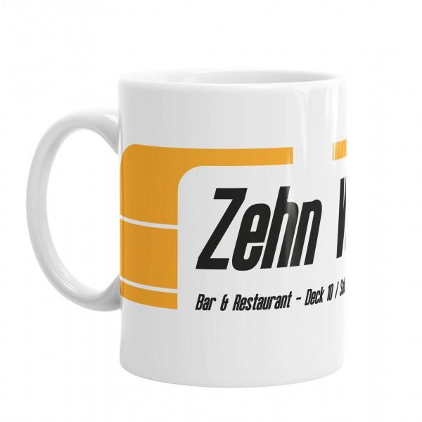 Zehn Vorne Tasse