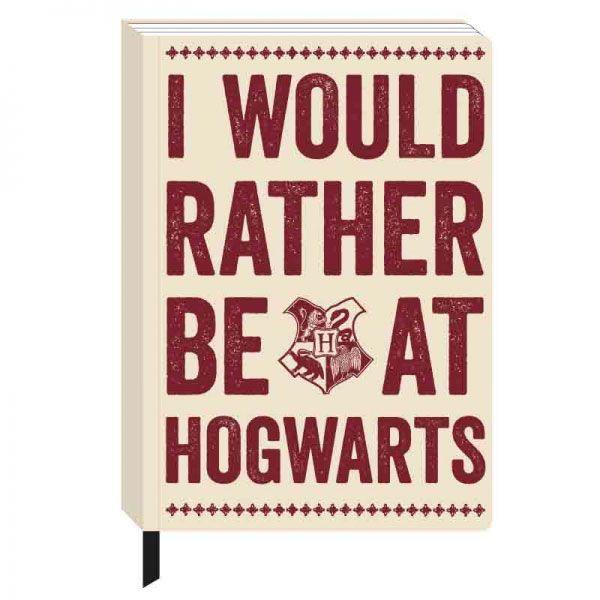 Harry Potter A5 Notizbuch Hogwarts Slogan