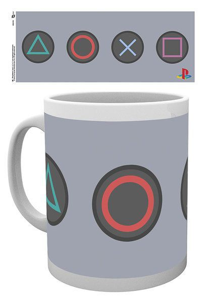 Sony PlayStation Tasse Buttons
