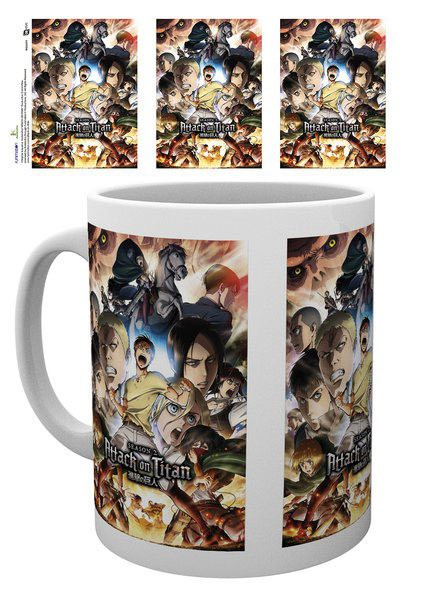 Attack on Titan Season 2 Tasse Collage Key Art