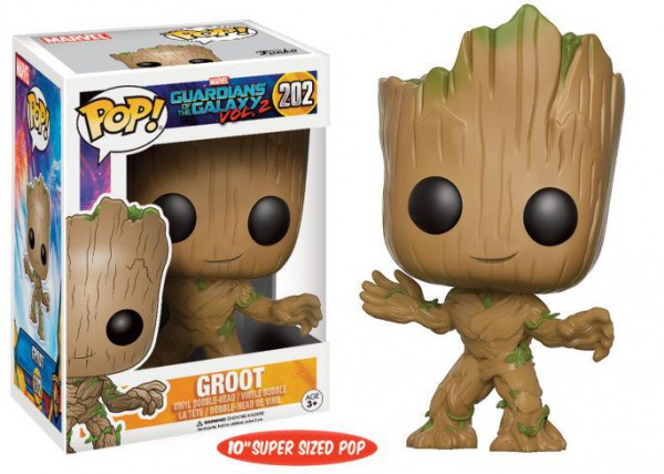 Guardians of the Galaxy Vol. 2 Super Sized POP! Marvel Vinyl Figur Young Groot 25 cm