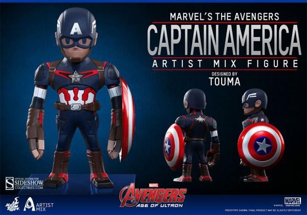 Avengers Age of Ultron Artist Mix Wackelkopf-Figur Captain America 14 cm
