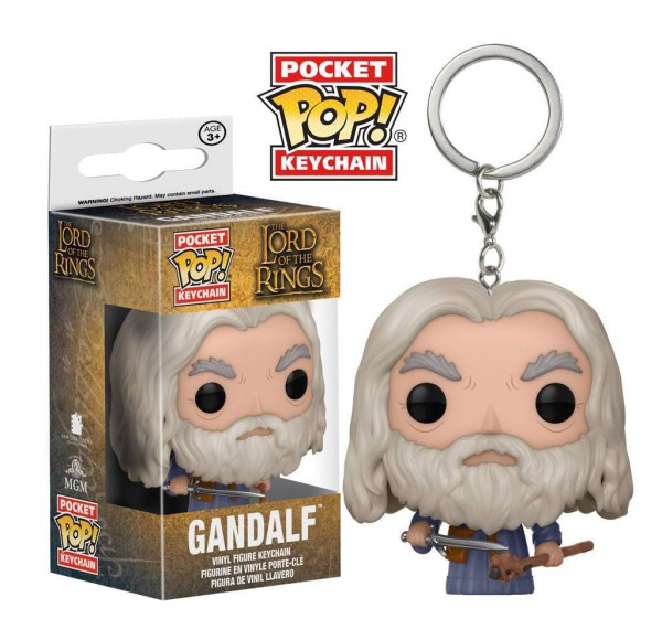 Herr der Ringe Pocket POP! Vinyl Schlüsselanhänger Gandalf 4 cm