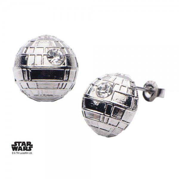 Star Wars Edelstahl-Ohrringe Death Star