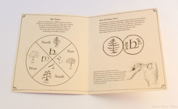 Der Hobbit Münzen Set #3 4 Shire Farthings