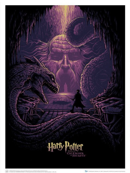 Harry Potter Kunstdruck Harry Potter & the Eyes of the Basilisk 61 x 46 cm