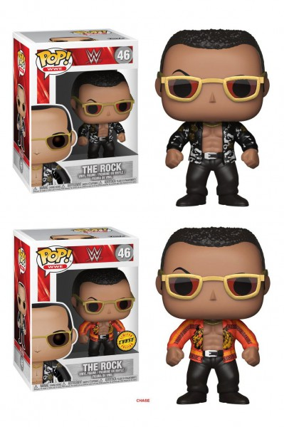 WWE Wrestling POP! WWE Vinyl Figuren The Rock (Old School) 9 cm Sortiment (6)