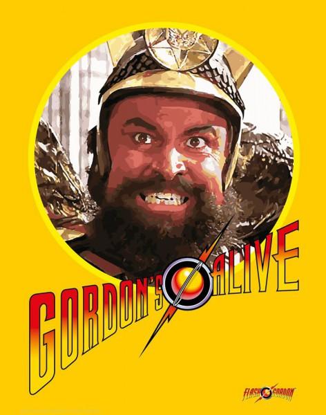 Flash Gordon Kunstdruck Gordons Alive 35 x 28 cm