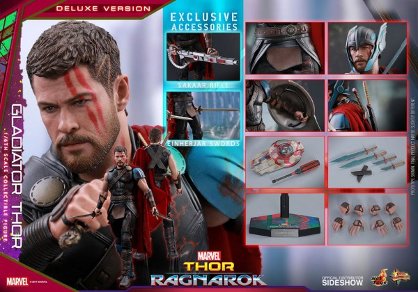 Thor Ragnarok Movie Masterpiece Actionfigur 1/6 Gladiator Thor Deluxe Ver. 32 cm