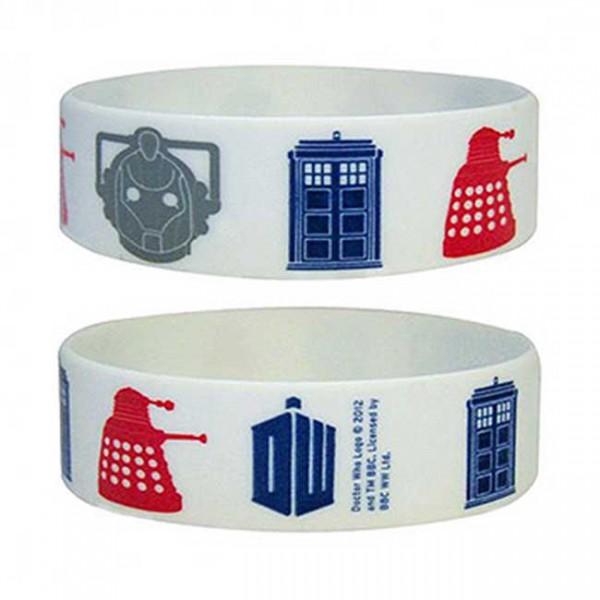 Doctor Who Icons Gummi Armband